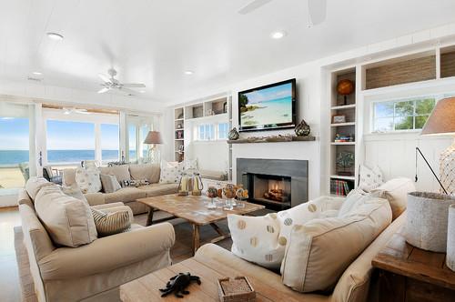 Classic beach decor in custom home on Long Beach Island NJ