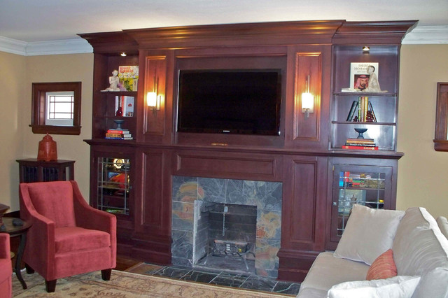 Living room & Fireplace – After traditional family room