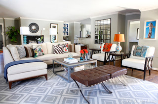 Living Room Den Tv Room Eclectic Family Room Dallas By Kyle Knight