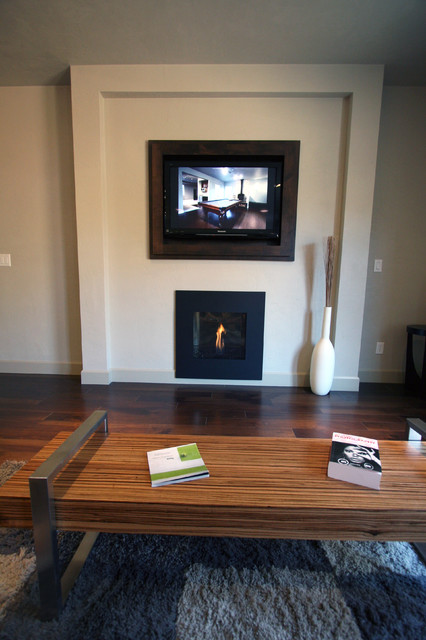 Living Room Fireplace Built In Cabinet Detail Tv