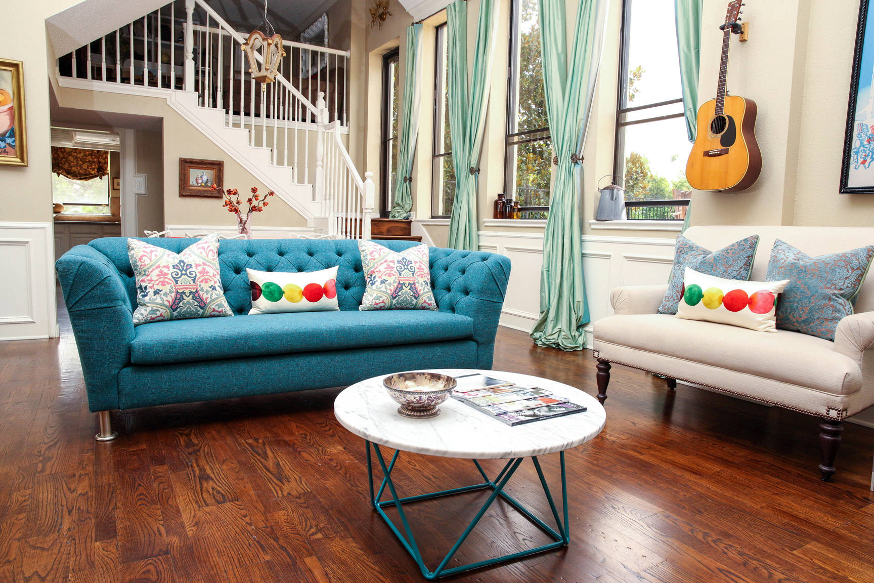 Teal Blue Sofa Houzz