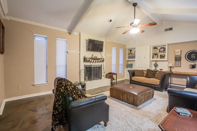 Living Room Metallic Epoxy Floor Coating modern living room dallas
