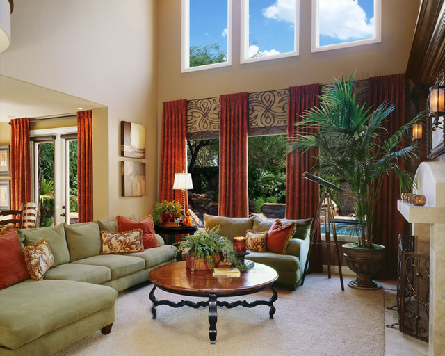 Living room family room san diego by robeson design - Houzz window treatments living room ...