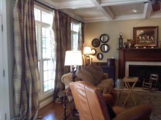 Living Room Silk Plaid Curtains