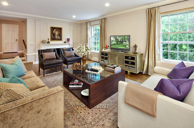 Living Spaces contemporary-family-room