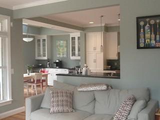 Lloyd square carrboro north carolina modern family - Semi open floor plan ...