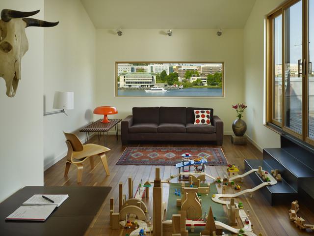 Lobster Boat Residence modern-family-room