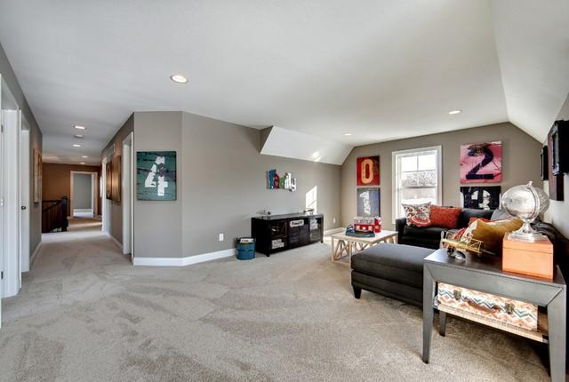 Loft - Audubon Model - 2014 Spring Parade of Homes transitional-family-room