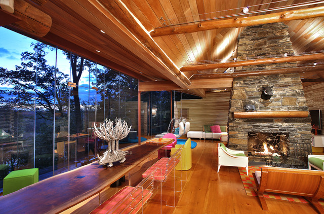 Log Cabin eclectic-family-room