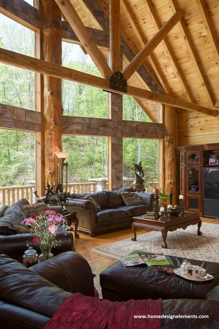 log home ashworth traditional family room other