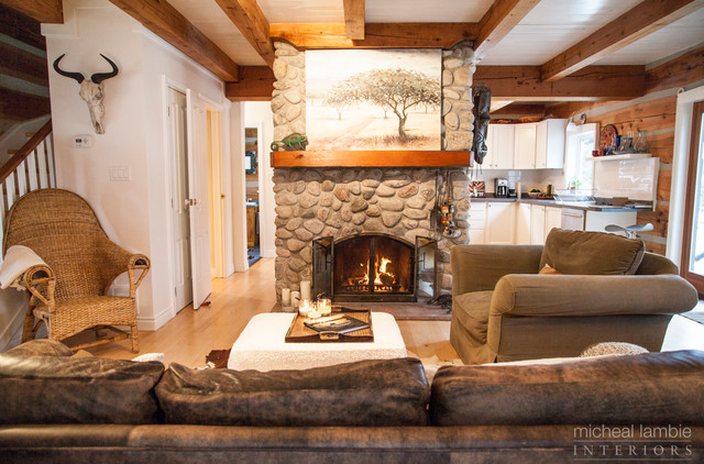 Log Home Makeover - Caledon - Rustic - Family Room - toronto - by micheal lambie interiors