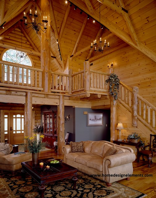 log home tysinger traditional family room other