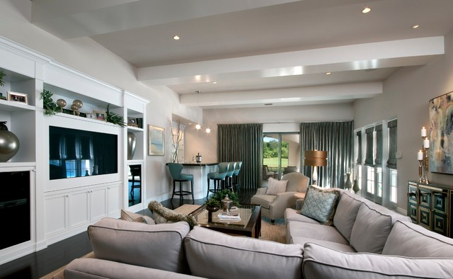 London Bay Homes Custom Home - Private Residence #1 traditional-family-room