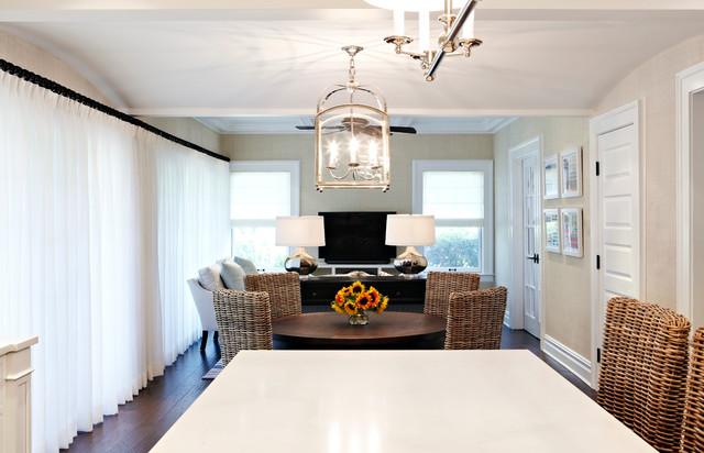 Inspiration for a beach style family room remodel in New York