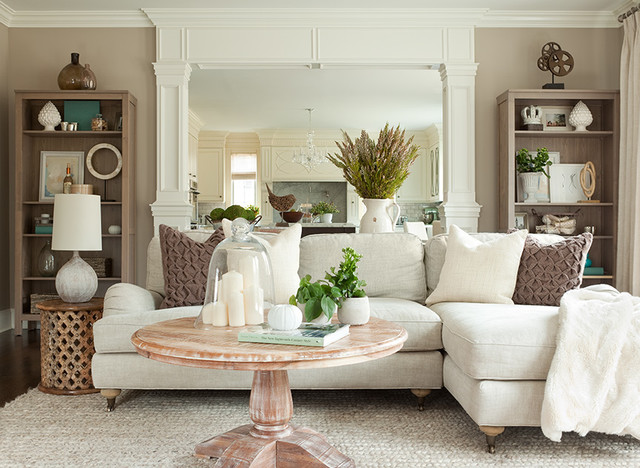 Long Island Home transitional-family-room