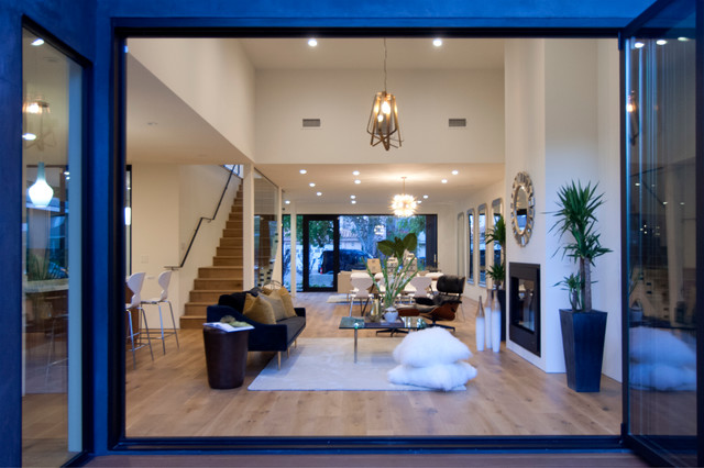 Los angeles home staging ashwood ave mar vista modern for Family room los angeles