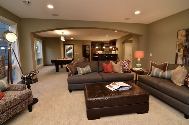 Lower Level Entertainment Area traditional-family-room