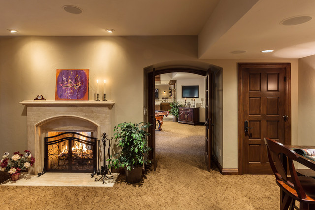Lower Level Rec Room Delafield Traditional Family