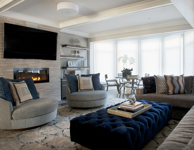 Contemporary Glam Living Room: Transitional