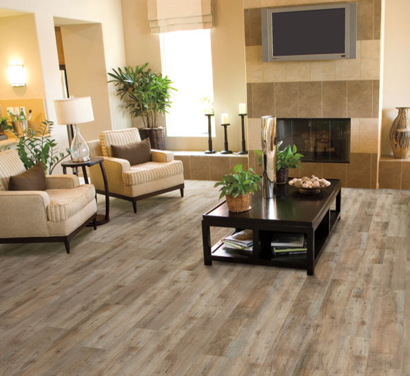 Luxury Vinyl Tile Coastal Design Beach Style Family Room Detroit By Modern Floors Carpet One