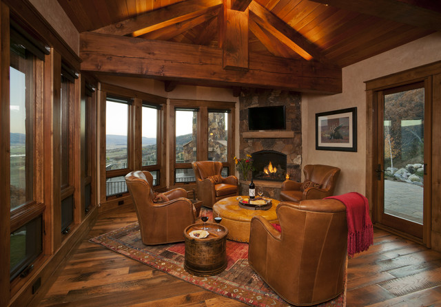 Lynne Barton Bier - Home on the Range Interiors rustic-family-room