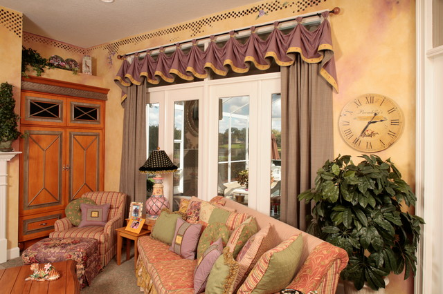 Mackenzie childs valence look traditional family room for Mackenzie childs kitchen ideas