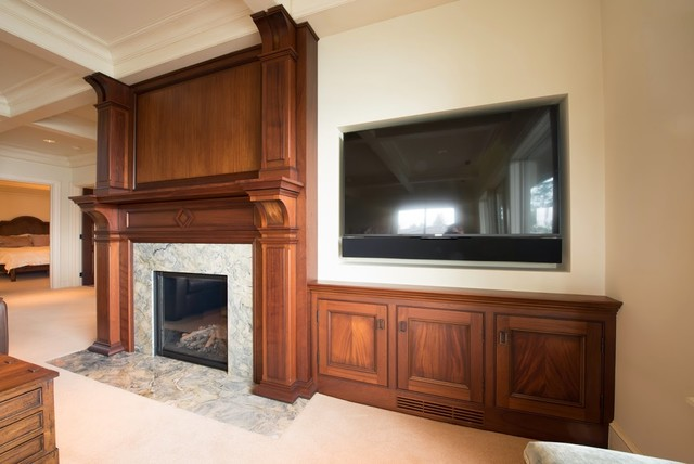 Mahogany Fireplace Mantel Traditional Family Room By D 39 Ireys