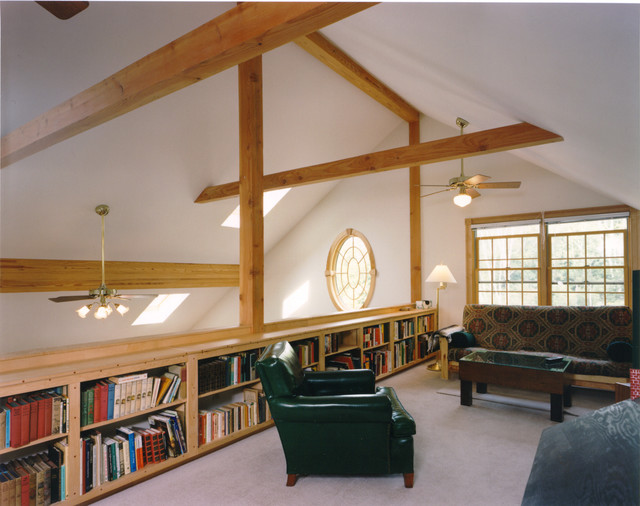 Maine Island Passive Solar traditional-family-room