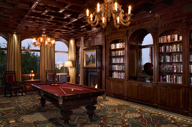 Malinard Manor - Billiards Room traditional-family-room