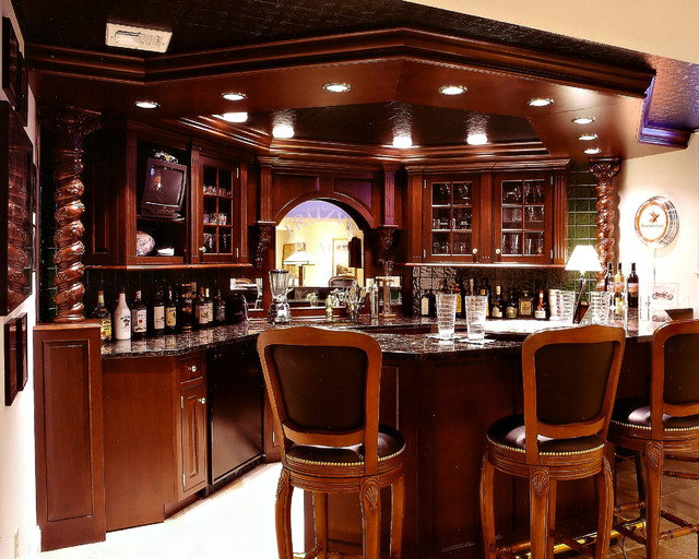 Man Cave & Bar - Traditional - Family Room - by Paul L. Johnson ...