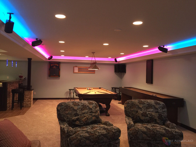 game room lighting. Man Cave Game Room LED Lighting Contemporaryfamilyandgamesroom