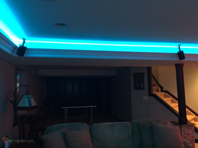 Man Cave Lighting : Man cave game room led lighting contemporary family