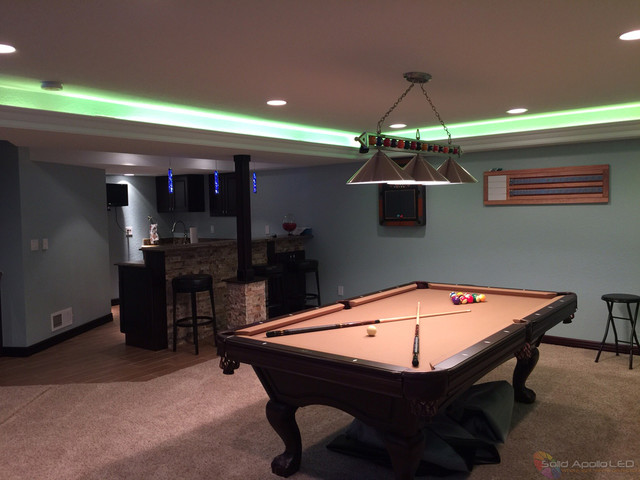 game room lighting. man cave game room led lighting contemporaryfamilyroom