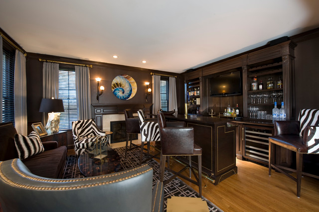 Man Cave Contemporary Family Room Other Metro By