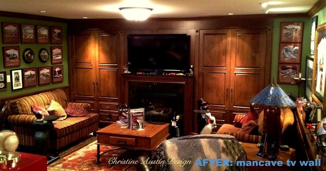 Man Cave Family Room : Man cave media room traditional family