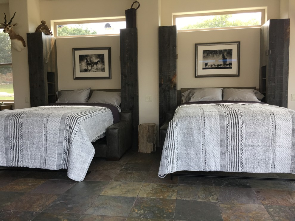 Man Cave Murphy Beds Rustic Family Room Austin By Flyingbeds International