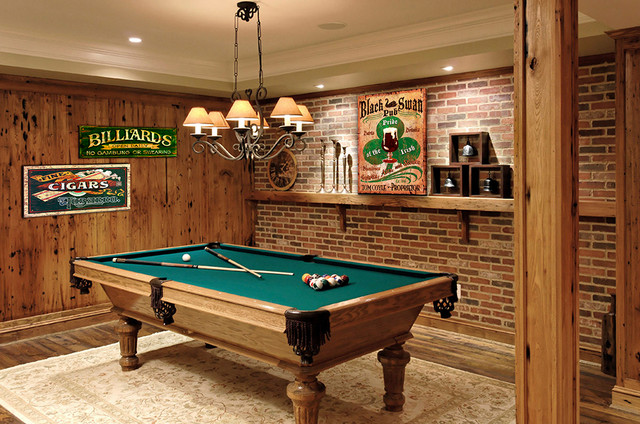 Mancave game room rustic family room boston by for My new room 4 decor games