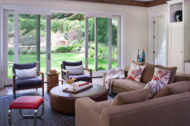 Mandeville Canyon Home contemporary-family-room