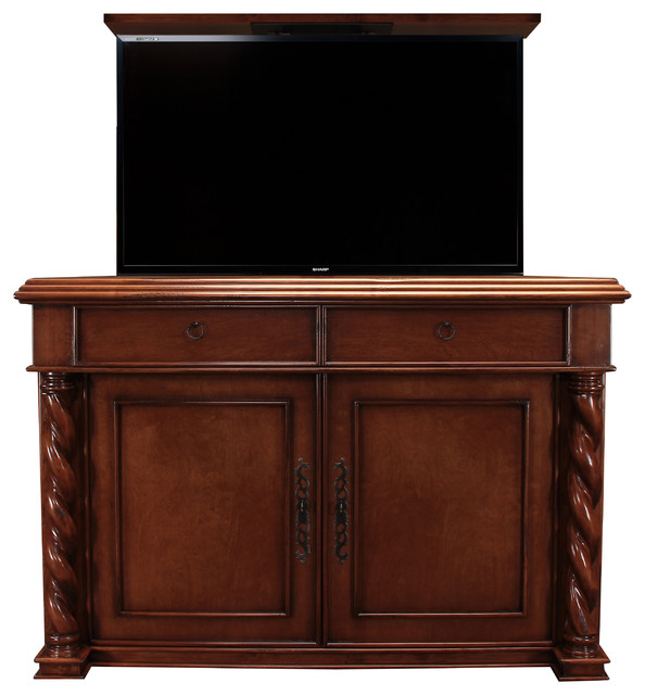 marin hidden tv lift cabinet us made tv lift cabinet by cabinet tronix family room san. Black Bedroom Furniture Sets. Home Design Ideas