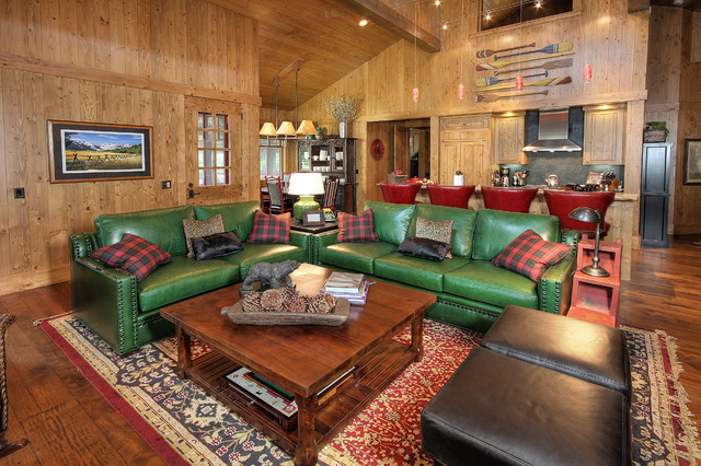 Martis Camp rustic-family-room