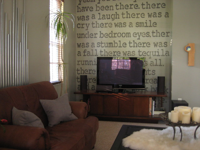 Masculine Media Room contemporary-family-room