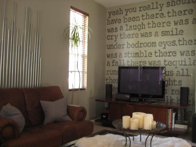 Masculine Media Room contemporary-family-room