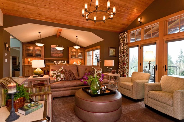 Northwest Color contemporary-family-room