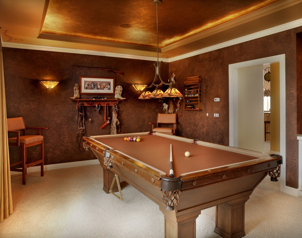 Example of a mountain style game room design in Columbus