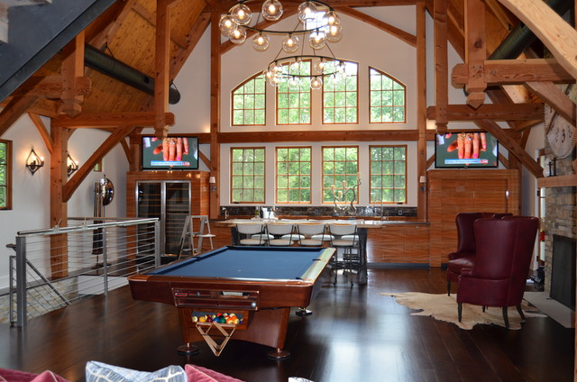 Media Game Room Converted Barn In Harding Nj