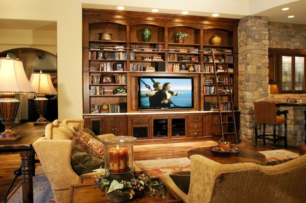 Media Library Wall - Traditional - Family Room - phoenix - by Stone Creek Furniture - Kitchen & Bath