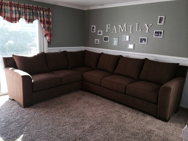 MEDIA ROOM CUSTOM SECTIONAL SOFA Traditional Family