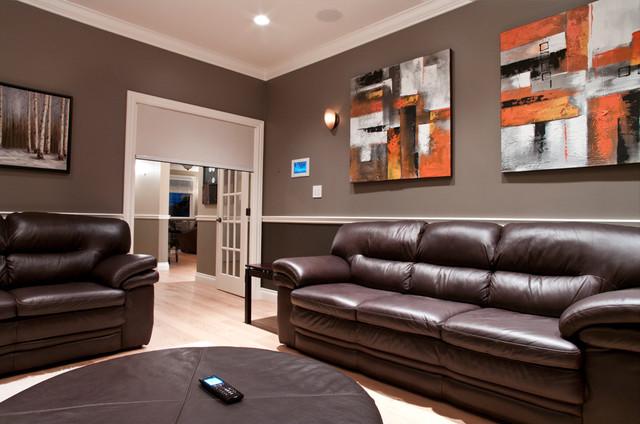 Media Room transitional-family-room
