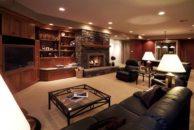 Media Room traditional-family-room