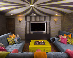 Media Room eclectic-family-room